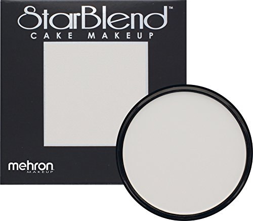 Mehron Makeup StarBlend Cake Makeup MOONLIGHT WHITE – 2oz (Red And White Halloween Cake)