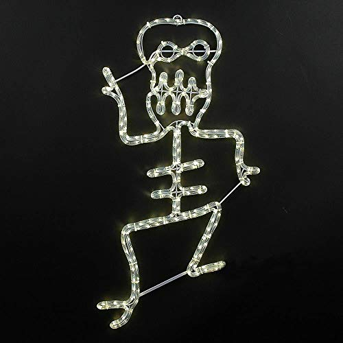 Novelty Lights LED Warm White Halloween Skeleton Rope Light Motif Sculpture, Halloween Deocrations -