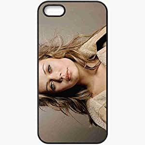 Personalized iPhone 5 5S Cell phone Case/Cover Skin Alexis Dziena Black