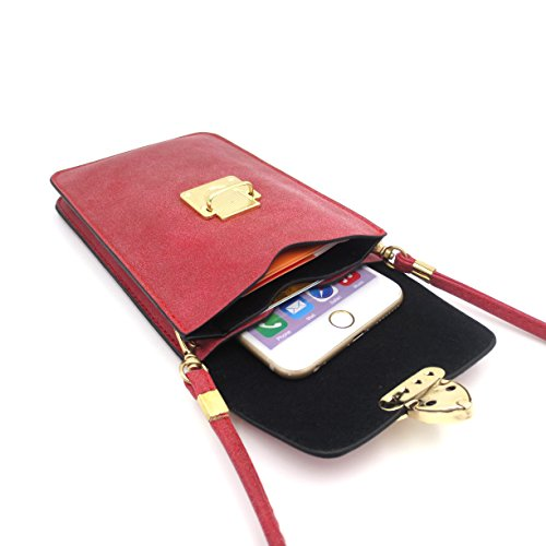 Small Crossbody Phone Purse Luxury Leather Travel Shoulder Pouch Wallet Case Bag