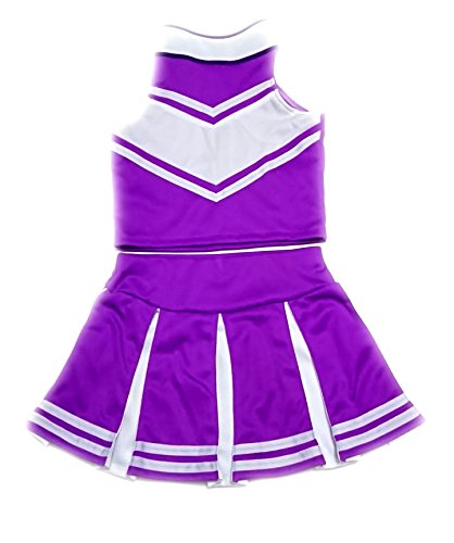 Children/Girls' Cheerleader Cheerleading Uniform Costume purple/White (L /