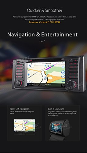 XTRONS 7 Inch HD Digital Touch Screen Car Stereo Radio In-Dash DVD Player with GPS CANbus for BMW 5 Series X5 Navigation Map Card Included by XTRONS (Image #7)