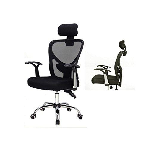 Ergonomic Mesh High Back Office Chair Soft Sponge Upholstery 360 Degree Swivel Home Office Gaming Desk Task Executive With Headrest - Black - Friday Mississauga Black
