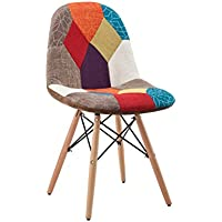 Hodedah HIC7395 Patchwork Studio Chair, 1