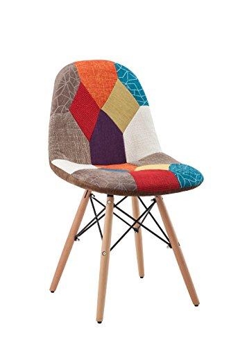 """Hodedah HIC7395 Patchwork Studio Chair, 1"""", Bronze"""