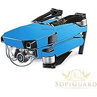 SopiGuard Matte Blue Metallic Precision Edge-to-Edge Coverage Vinyl Skin Controller Battery Wrap for DJI Mavic Pro