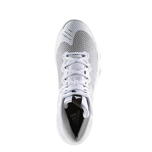 Adidas Crazy Hustle, Chaussures de Basketball Homme, Blanc Cassé (Ftwbla/Plamet/Grpulg), 55 EU