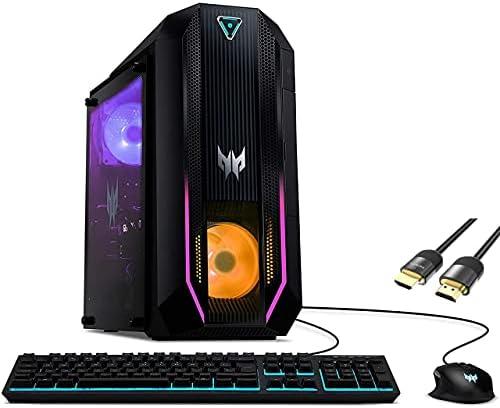 Mytrix Predator Orion 3000 by_Acer Gaming Desktop PC, Intel 8-Core i7-10700, GeForce RTX 3060 Ti, 32GB RAM, 1TB SSD+1TB HDD, USB-C, Wi-Fi 6, Killer Ethernet, HDMI/DP, RGB, Mytrix HDMI Cable, Win 10