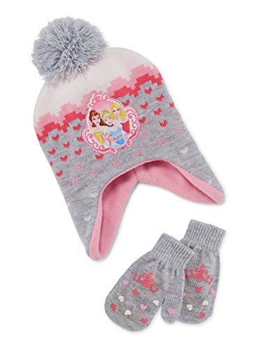 Disney Princess Scandinavian Hat a Mitten Set - Toddler girls 2 - 5 [4014]