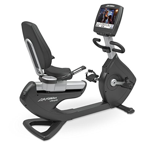 Life Fitness Platinum Club Series Engage Recumbent Bike Integrated TV LifeCyclecle