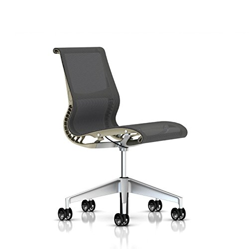 Herman Miller Setu Chair: Armless - Translucent Casters - Ch