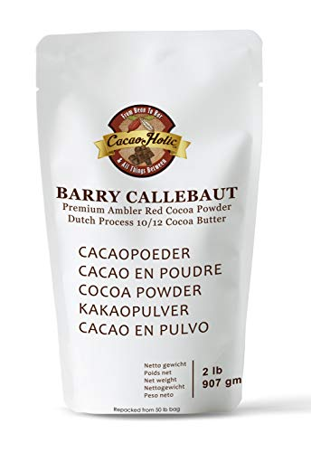 Cocoa Red (Barry Callebaut Ambler Premium Red Cocoa Powder | 10/12% Cocoa Butter | Cacaoholic Resealable Stand Up Pouch | Dutch Process Alkalized |2 Pound)
