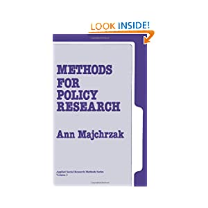Methods for Policy Research (Applied Social Research Methods)
