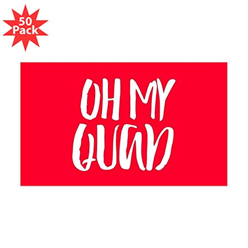 CafePress - Oh My Quad - Sticker (Rectangle 50 pk) by CafePress