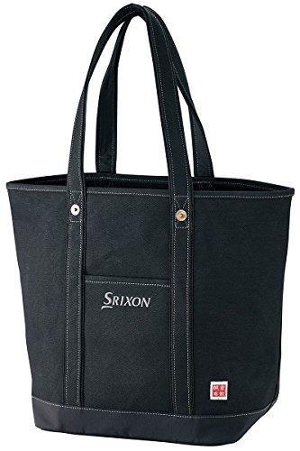 緩やかな正しく取るに足らないDUNLOP(ダンロップ) SRIXON 帆布トートバッグ GGF-B8007 ブラック