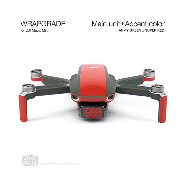 WRAPGRADE Colore di Accento Skin Compatibile con DJI Mavic Mini (Super Red) 7 spesavip