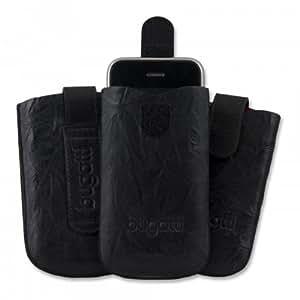 Funda de cuero, leather case, Carcasa SlimCase Unique bugatti para Palm Pre, negro (black)