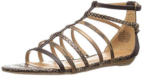 Nine West Women's Aboutthat Synthetic Dress Sandal, Cognac Multi, 38.5 B(M) EU/6.5 B(M) UK