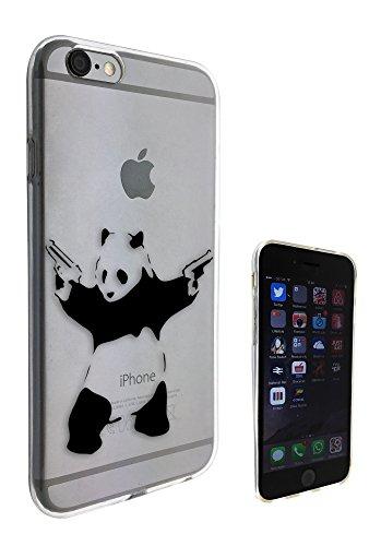 c0072 - Banksy Grafitti Art Shooting Panda Design Pour iphone 5 5S Protecteur Coque Gel Rubber Silicone protection Case Coque