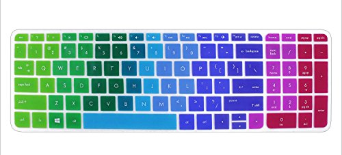 Silicone Keyboard Cover Skin for 15.6 inch HP Pavilion 15-ab 15-ac 15-ae 15-af 15-an 15-ak 15-ay 15-ax 15-as 15-ba 15-bc 15-bk Series, HP OMEN 15-ax, HP Envy x360 m6-ae151dx m6-p113dx m6-w (Rnb Series)