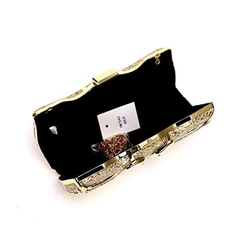 Soirée Pochette Bourse Bandoulière Mariage Cygne De Porte Parti Métal Mode Creux À Brillant Paillettes Main Femmes Prom Diamante Sac Designer monnaie Blue ETwqSPB