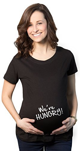 Crazy Dog T-Shirts Maternity Were Hungry Funny Baby Bump Pregnancy Announcement T Shirt