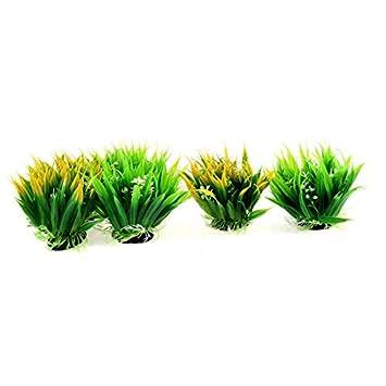 eDealMax acuario plástico Detalle Flores plantas submarinas Hierba Oranment 6pcs