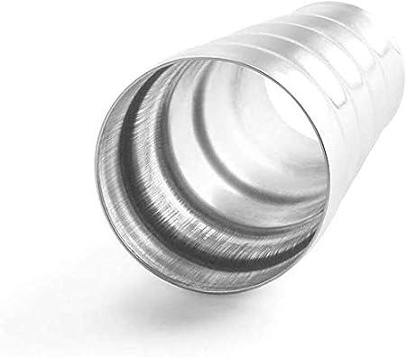 Dengofng per Auto Scarico Sistema Tubo Connettore 5 Passo Acciaio Tubo Riduttore Adattatore Argento Free Size