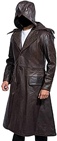 Classic Outfitters Assassin's Creed Syndicate Jacob Frye Brown Leather Trench