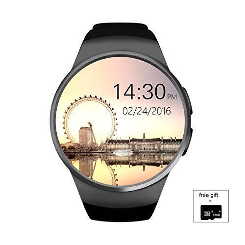 - Iokone Bluetooth Smart Watch with SIM Card Slot Touchscreen Water Resistant Smartwatch Phone for Android and iPhone Smart Wrist Watch for Men(Black)