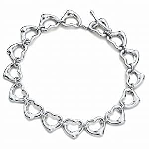 Tiffany And Co Bracelet Continuous Hearts Silver 128