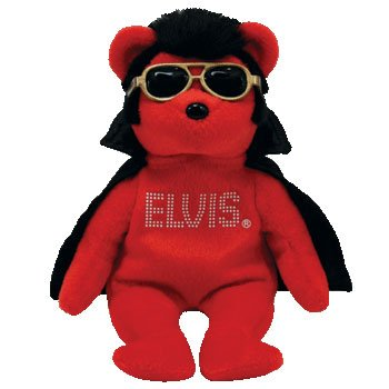 Amazon.com  TY Beanie Baby - SHAKE RATTLE   BEANIE the Elvis Bear ... 5143811da38