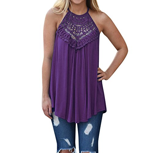Women Women Casual Loose Off Shoulder Lace Irregular Blouse T Shirts Tank Tops (XXL, (Lycra Cowl Neck)
