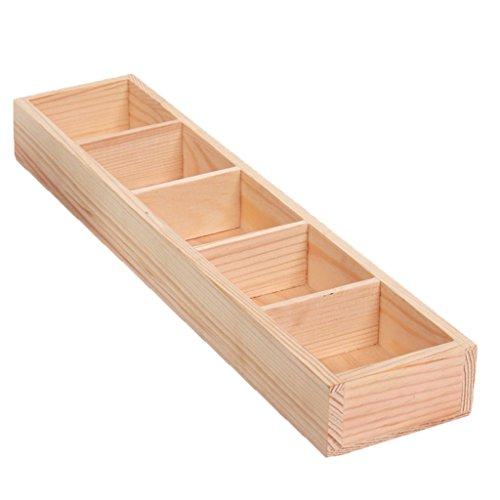 Jili Online Wooden Flower Planter Fence Picket Storage Holder Pot Wedding Decor 5 Types - 1#, as described