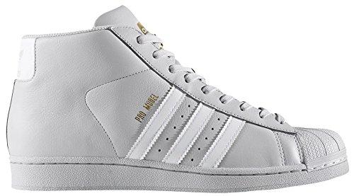 Adidas CG5073: Pro Model Men's Grey/White/Metallic Gold Sneaker (10.5 D(M) US Mens)