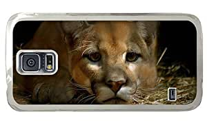 Hipster Samsung Galaxy S5 Case top cases cougar PC Transparent for Samsung S5