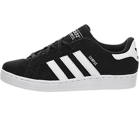adidas Originals Campus 2 C Basketball Shoe (Little Kid), Black/White, 12.5 M US Little Kid (Campus 2 Leather Shoe)