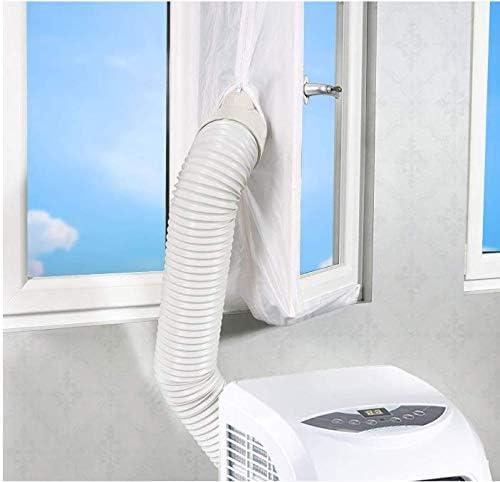FWXQ AirLock Guarnizione per finestra per climatizzatori mobili essiccatori con zip per tutti condizionatori esterno dellaria Hot Air Stop