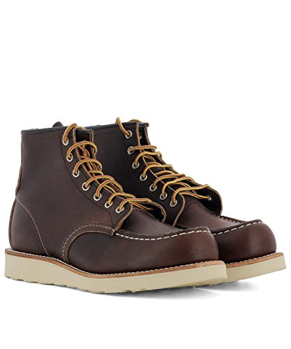 Marron 08138 Wing Cuir Bottines Red Homme qSf8xY