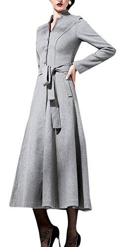 Notched Collar Shearling Coat - 4