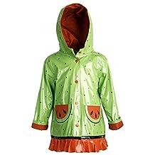 Wippette Little Girls Waterproof Vinyl Fully Lined Hooded Raincoat Rain Jacket