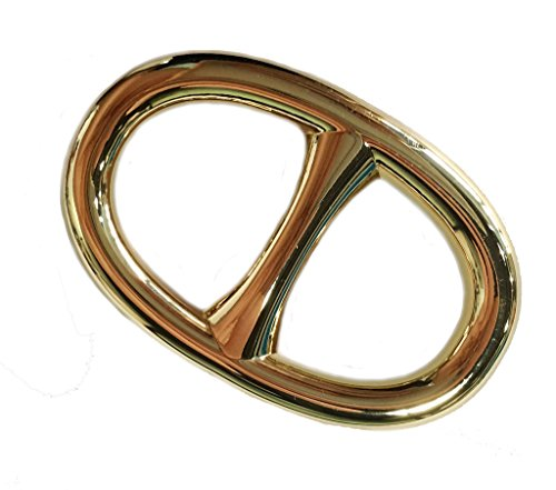 Design Oval Gold (Maikun Scarf Ring Modern Simple Design Oval Scarf Ring Gold)