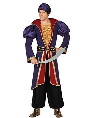 Atosa-28465 Disfraz Príncipe Àrabe, Color Violeta, XL (28465)