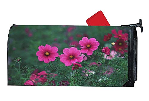 Beautiful Meadow Flowers Magnetic Mailbox Cover Home Garden Yard Outdoor Decor Post Letter Box Cover 6.5 X 19 Inches