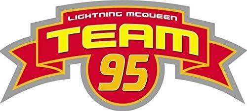 Amazon Com 6 Inch Team Lightning Mcqueen 95 Flag Disney Pixar