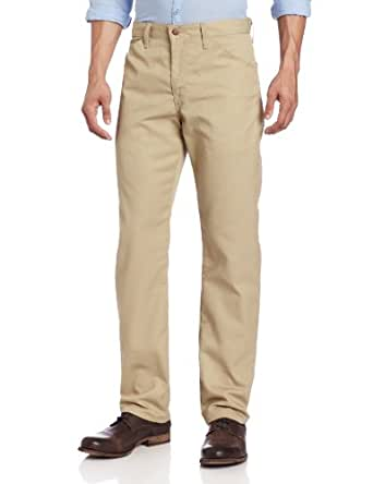 Dickies Men's Slim Straight Fit Light Weight 5-Pocket Twill Pant, Desert Sand, 29X30