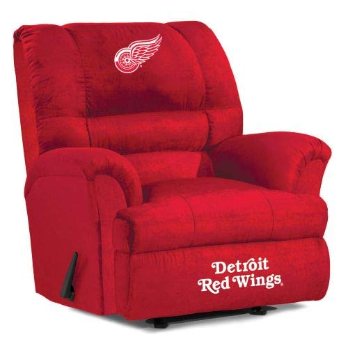 Imperial Officially Licensed NHL Furniture: Big Daddy Microfiber Rocker Recliner, Detroit Red -