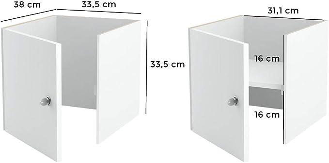 Puerta con cerradura para estantería Kallax de Ikea con sistema de cierre: cierre uniforme/Kallax, puerta con cerradura y pared trasera en blanco, ideal para profesores o estudios, seguro para niños: Amazon.es: Juguetes