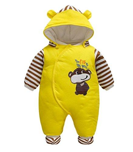 5876d316a Vine Bebés de los muchachos mameluco Recién nacido Calentar Juego del  cuerpo Otoño invierno Infantil Buzos Equipar, 0-3 Meses: Amazon.es: Bebé