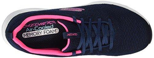 navy Trainer pink Knit 5 Size up Women's 5 Skechers Soft Lace Navy Skyline wAqFWBx1
